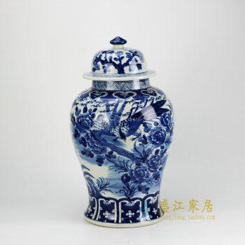 RZFZ02-A 手绘青花花鸟将军罐