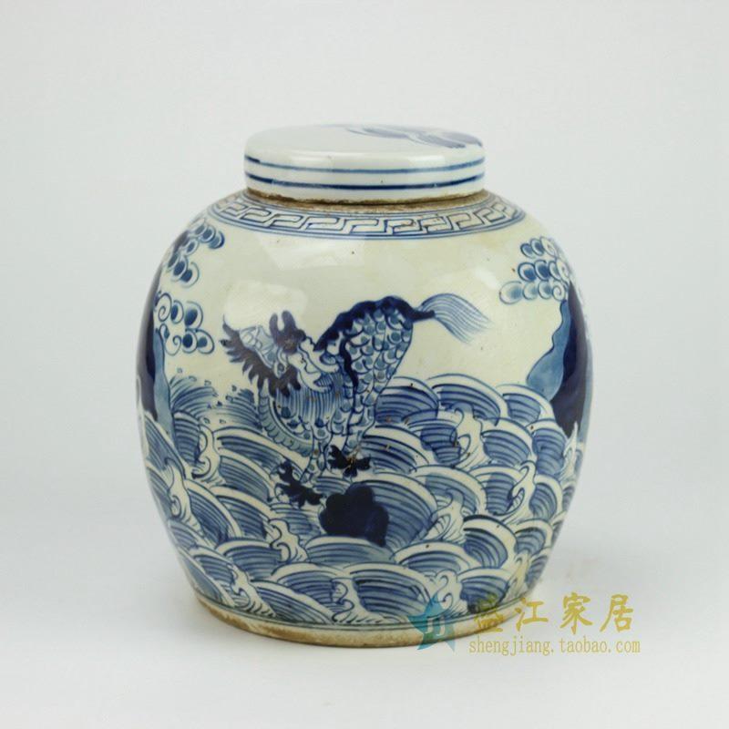RZFZ01-E 青花瓷器坛 罐