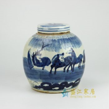 RZFZ01-B 青花瓷器坛 罐