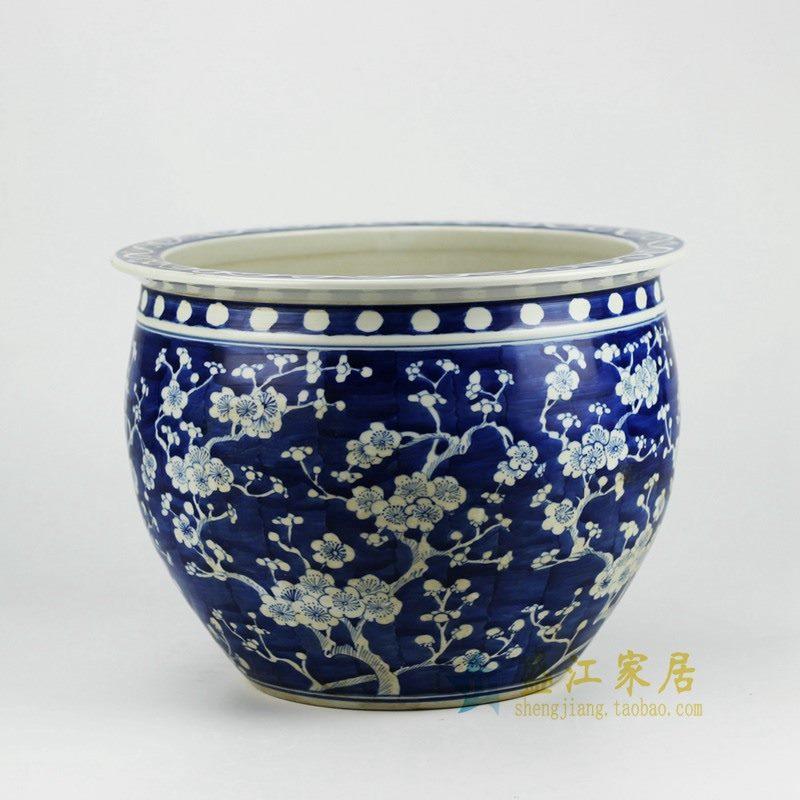 RYWG06 青花鱼缸 花盆