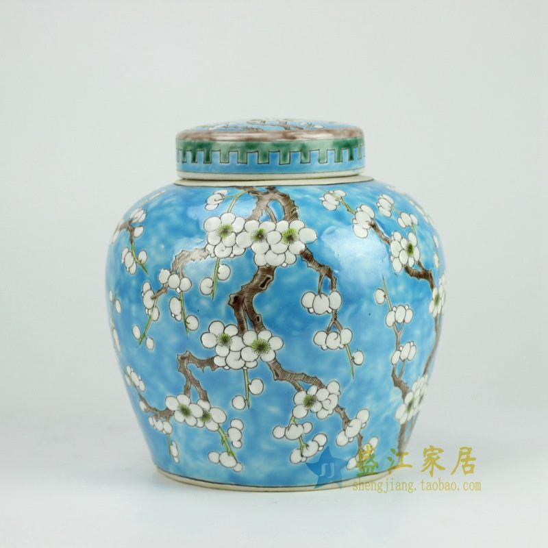 RYQQ34-B 粉彩罐子 坛
