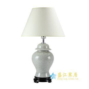 DS47-景德镇陶瓷 哥窑开片 台灯 灯具 摆件品