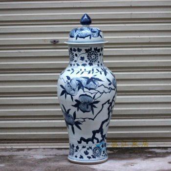 RYWY09-new_景德镇陶瓷 纯手绘青花 将军罐 储物罐