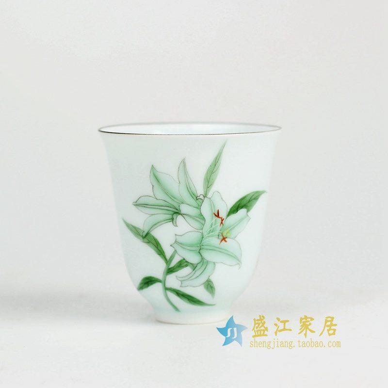 盛江陶瓷 纯手绘粉彩 公道杯