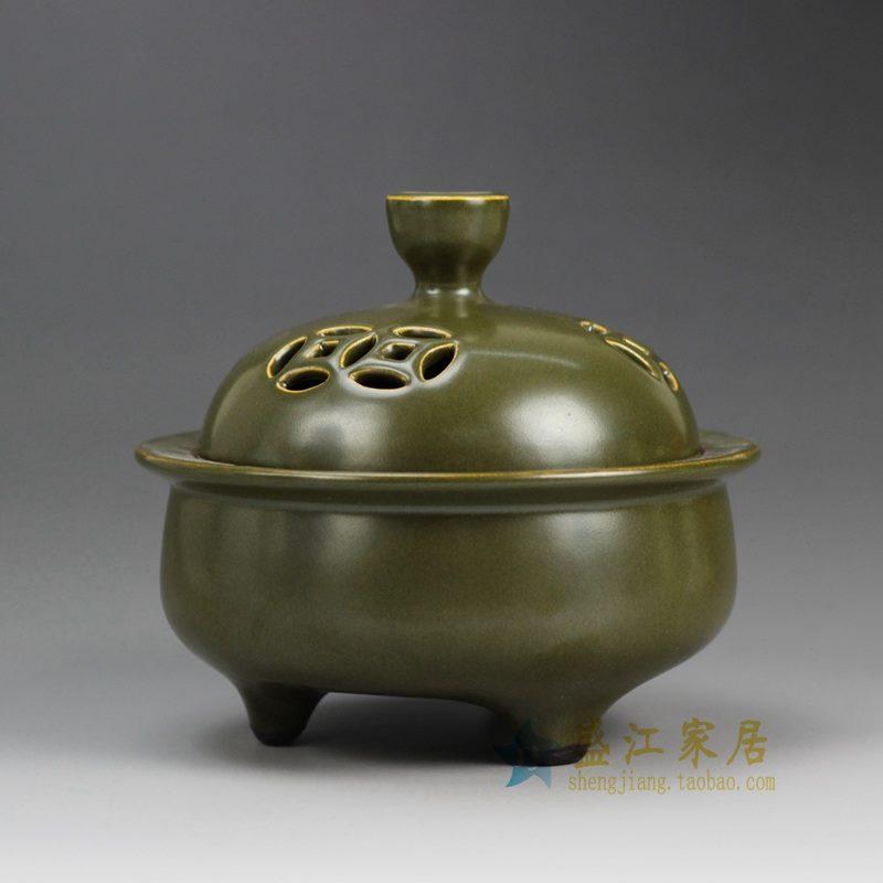 盛江陶瓷 茶叶末 香炉