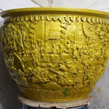 RYOM28_景德镇陶瓷  手工雕刻 水缸 鱼缸