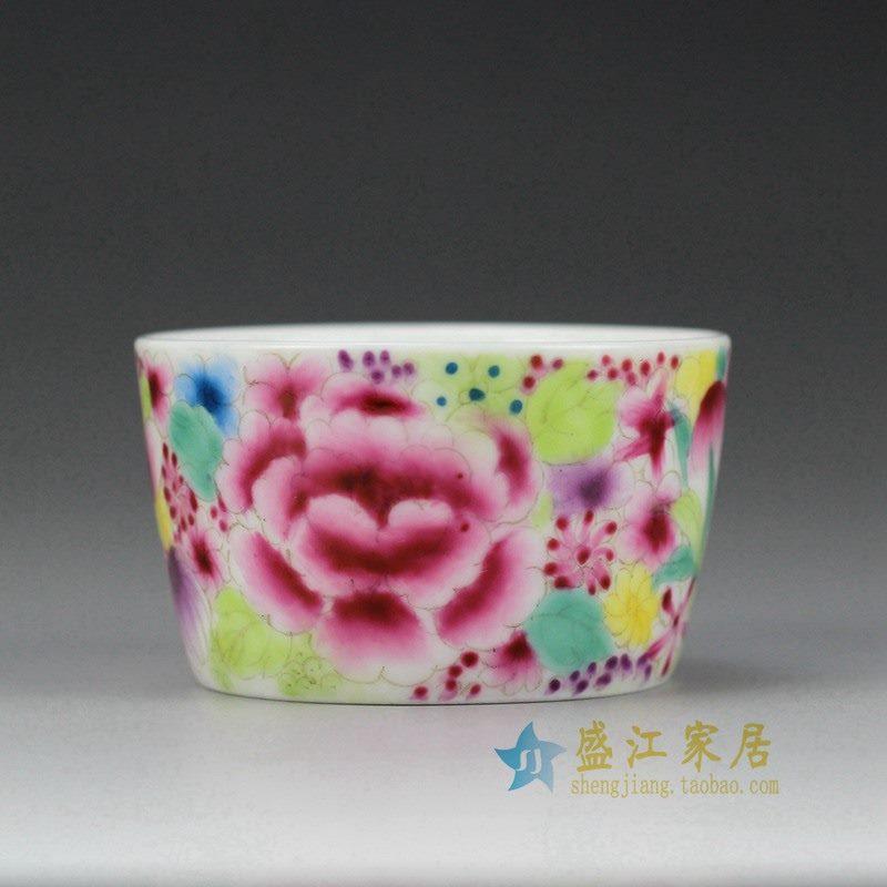 盛江陶瓷 手绘粉彩 陶瓷碗