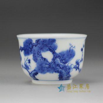 5150-14UR32 景德镇 手绘青花小单杯 水杯 茶杯厂家直销