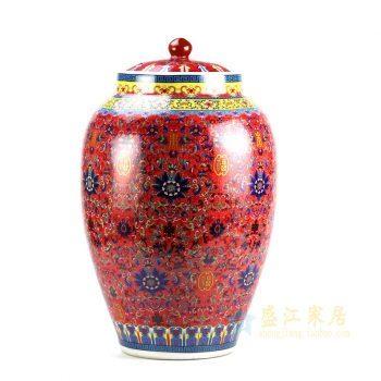 5159-RZHB01      景德镇 颜色釉 米坛米罐储物罐 厂家直销