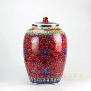 5160-RZHA01 景德镇 颜色釉 米坛米罐储物罐 厂家直销