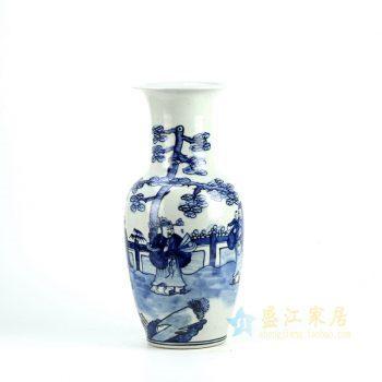 5162-RZFI06   景德镇  手绘青花 花瓶 花插  艺术摆件品