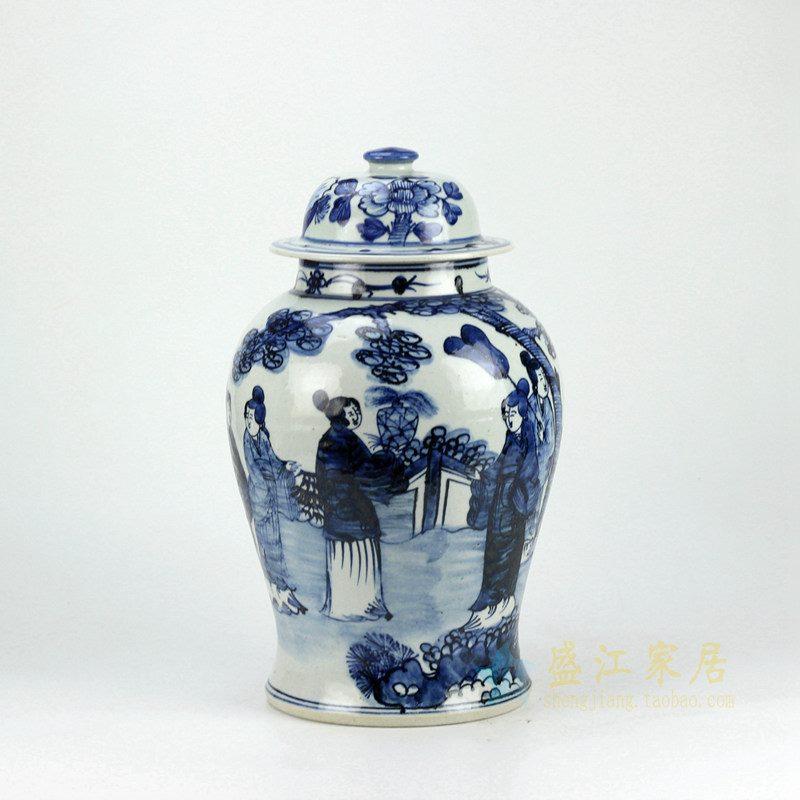 RZFI05-C 手绘青花将军罐