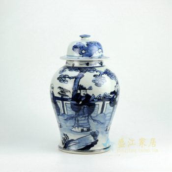 RZFI05-B 青花将军罐
