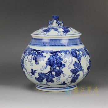 RZBo02 青花手绘茶叶罐