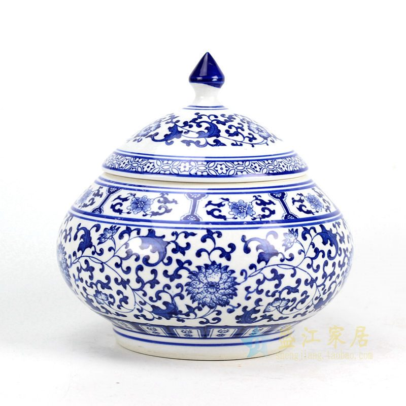 RZBG10 青花茶叶罐