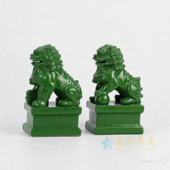RYXP02-h 绿色雕刻狮子