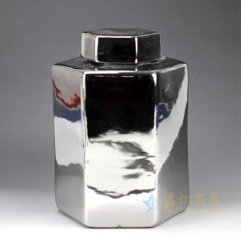RYNQ179-B 镀银银色储物罐 茶叶罐 盖罐