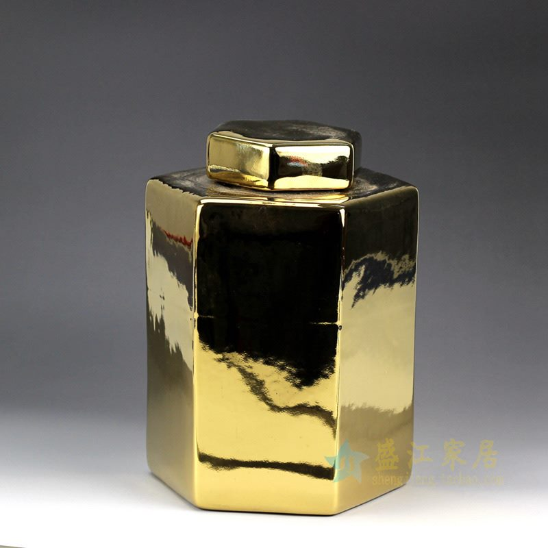 RYNQ179-A   镀金金色储物罐