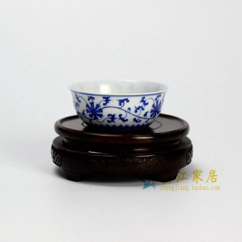 14DR162 手绘青花花纹茶杯