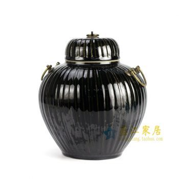 RYKB122-B 单色釉储物罐 宝珠坛