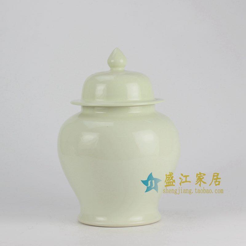RYKB131-C 单色釉奶白将军罐
