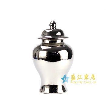 RYNQ23-E 镀银银色将军罐