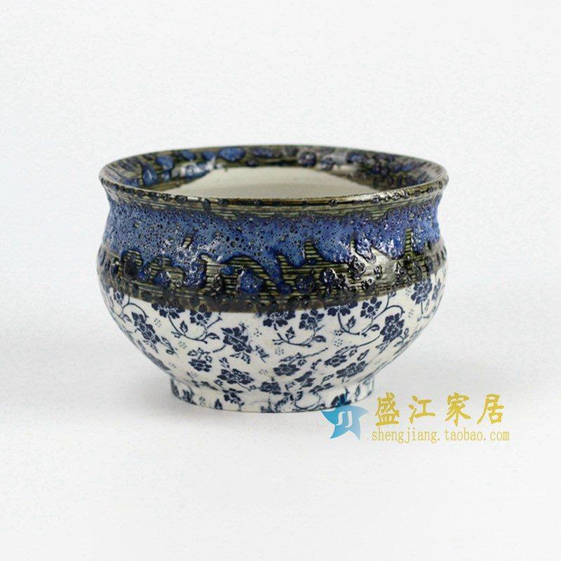 RYYF28-C 高温颜色釉 小花盆