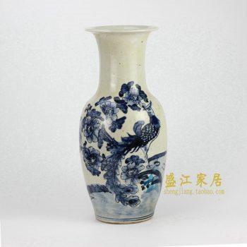 RZFI06-B 青花手绘花鸟花瓶
