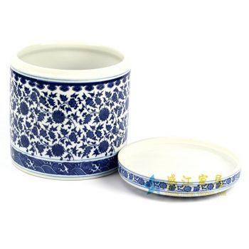 RZHI01 青花手绘花纹茶叶罐