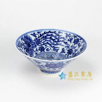 RZHL02-C 青花手绘花纹斗笠碗