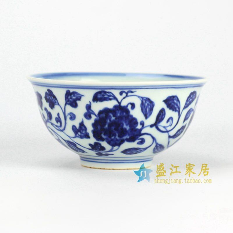 RZHL03-A 青花缠枝莲小碗