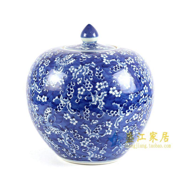 RYLU68-A 手绘青花苹果罐