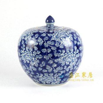 RYLU68-C 青花苹果罐 坛
