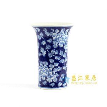 RYLU75 青花手绘牡丹花菇