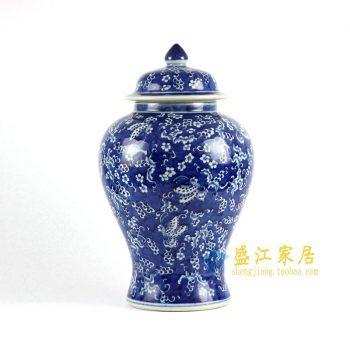 RYLU77-A 青花手绘将军罐
