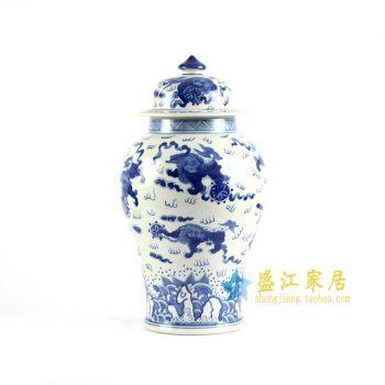 RYLU83 手绘青花将军罐