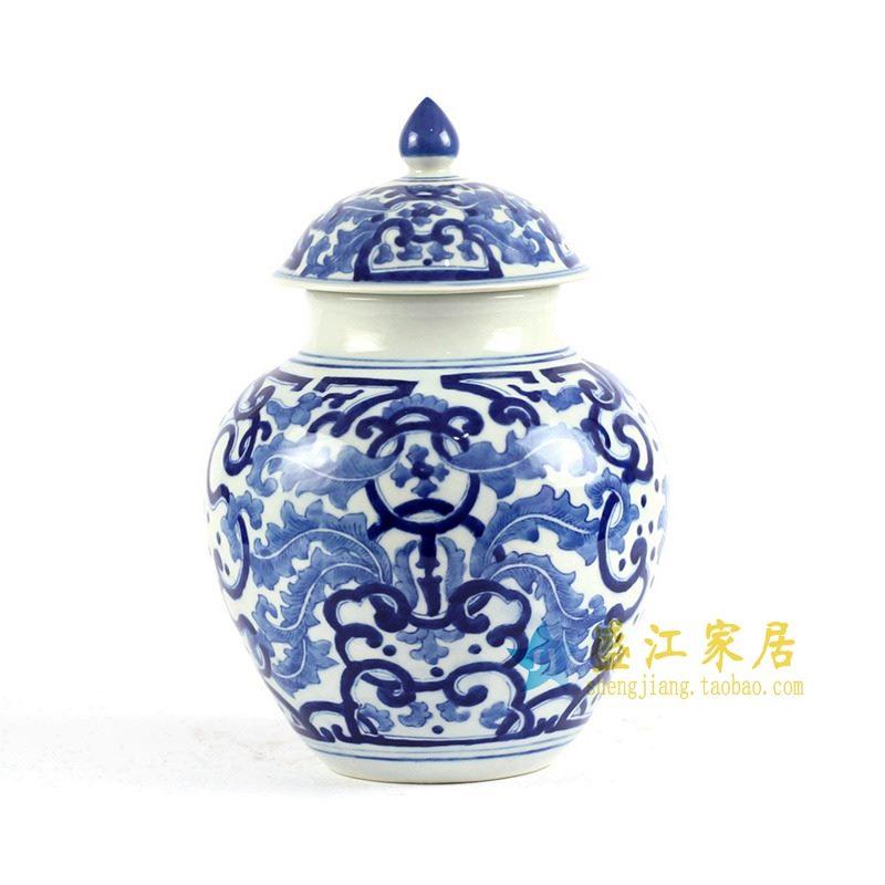 RYLU84-A 手绘青花茶叶罐