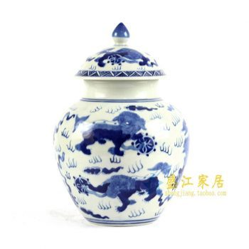 RYLU84-C 青花手绘茶叶罐