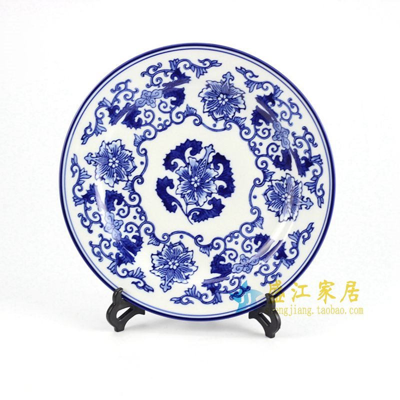 RYPU33-A 青花瓷盘 盘子