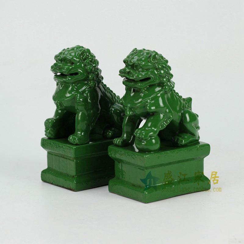 RYXP21-D-OLD 绿色雕塑狮子