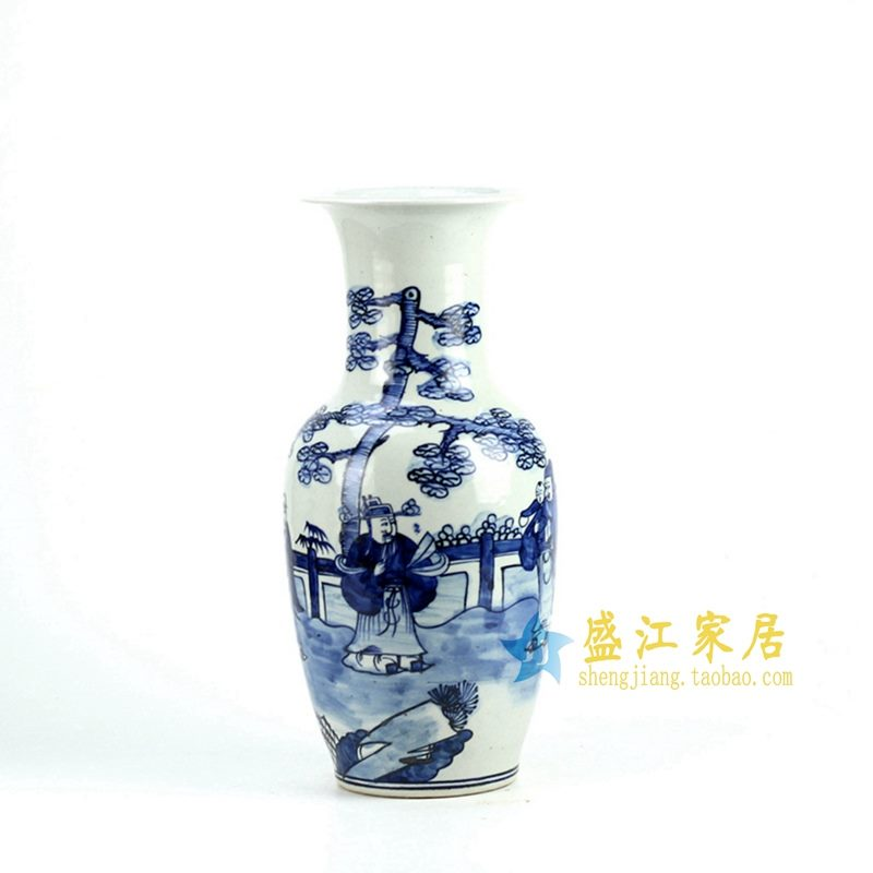 RZFI06 手绘青花人物花瓶