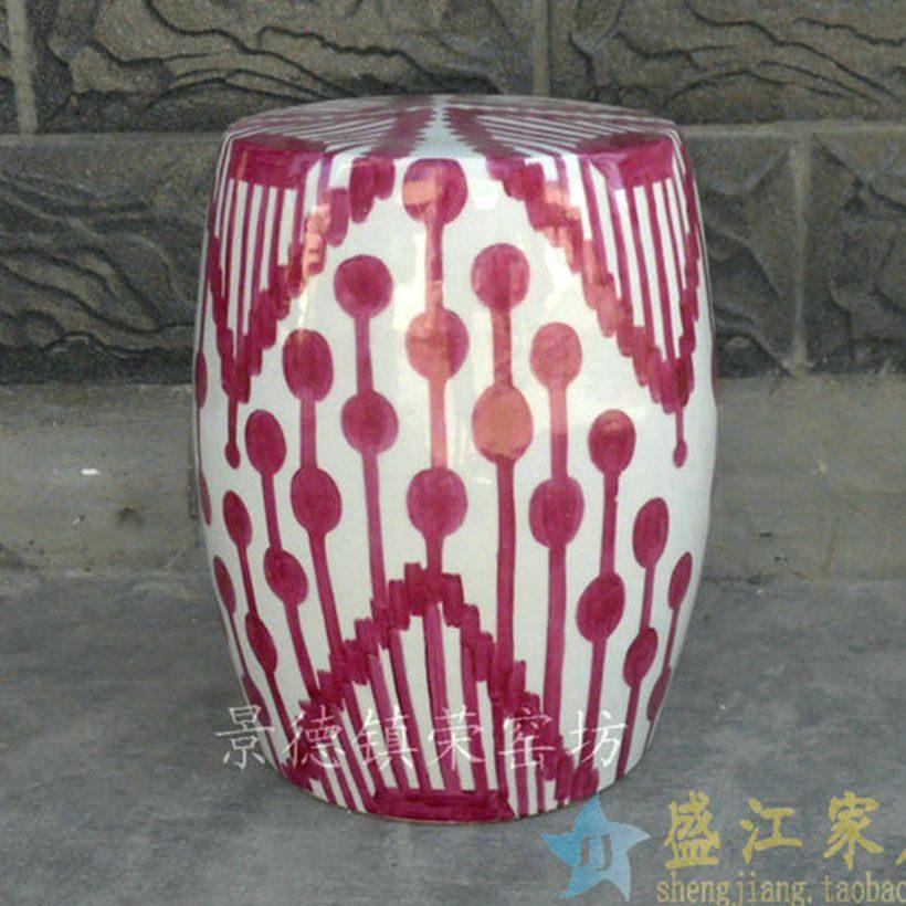陶瓷凉墩厂家定做 为国外一个客户定做的彩绘凳子