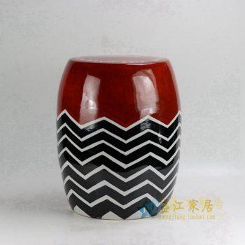 为国外一客户定做的陶瓷凳子 颜色釉凳子定制
