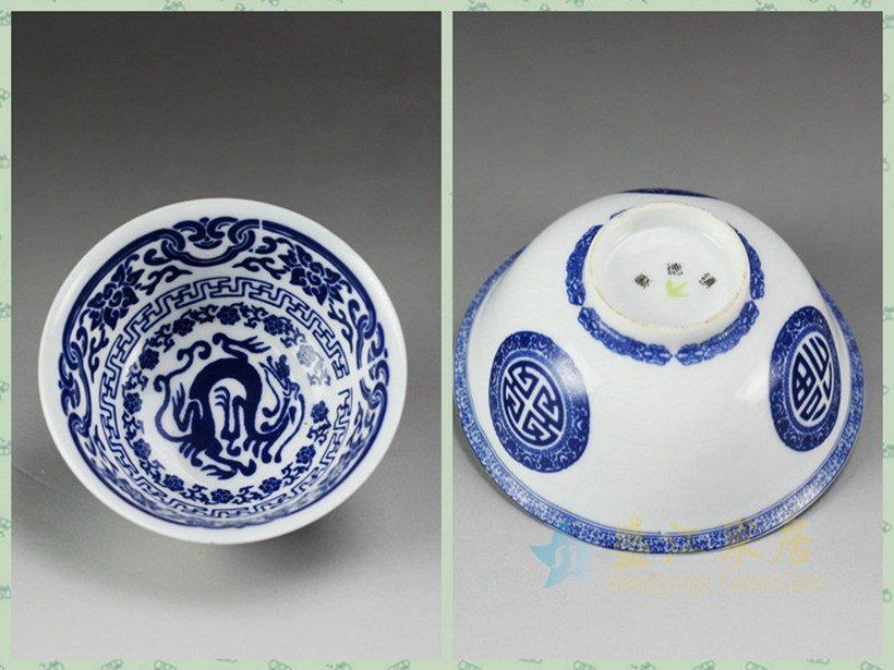 为国内一客户定制的手绘青花瓷茶碗