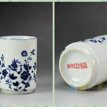 手绘青花瓷茶杯定制 为福建金丝莉客户定制的一款手绘茶杯