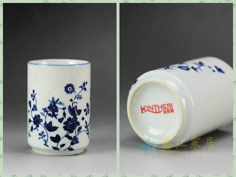 手绘青花瓷茶杯定制 为福建客户定制的一款手绘茶杯