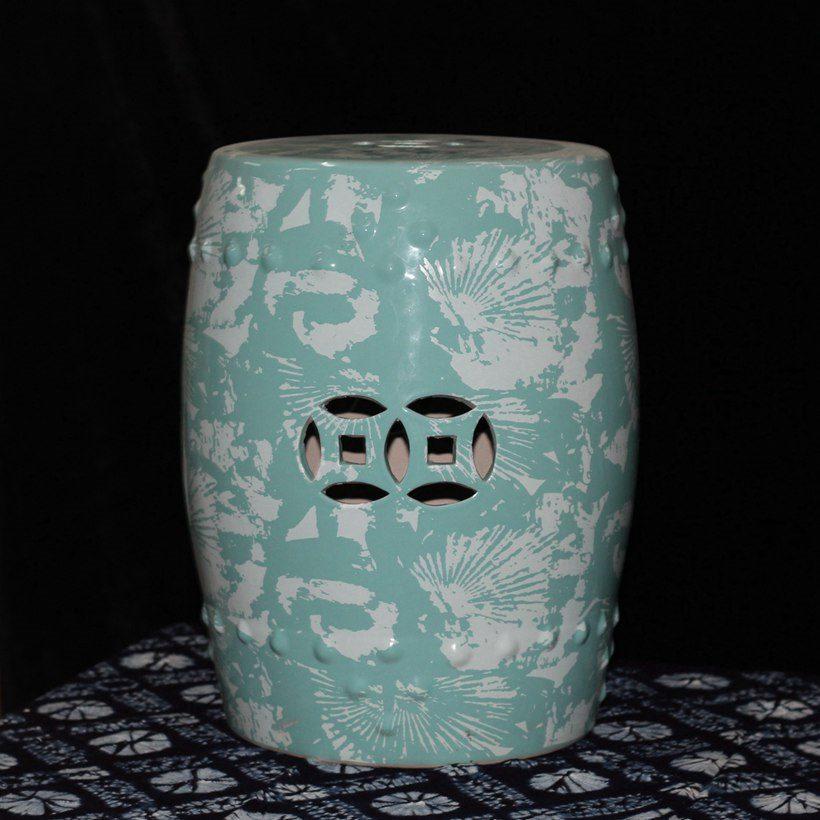 美国客户定制的一款印花凳子 厂家专业瓷墩定制