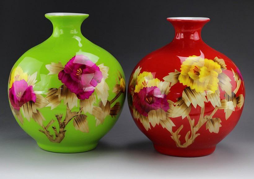 为这国外客户定制的麦秆画花瓶