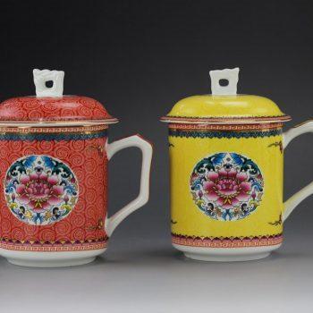 景德镇专业定制茶杯厂家 广东泛美律师事务所定做