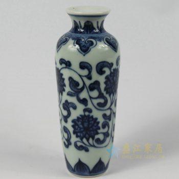 5388-RZEV01-L_2771   景德镇   青花瓷  缠枝莲花瓶   艺术摆件品